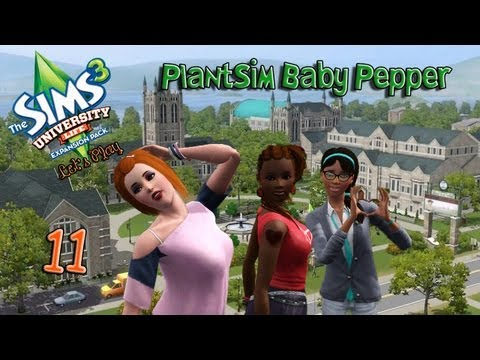 Let's Play: The Sims 3 University Life - (Part 11) PlantSim Baby Pepper
