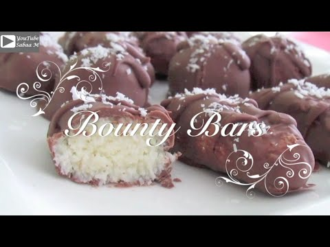 Home made Bounty Bars - Bounty chocolate - Easy bounty recipe