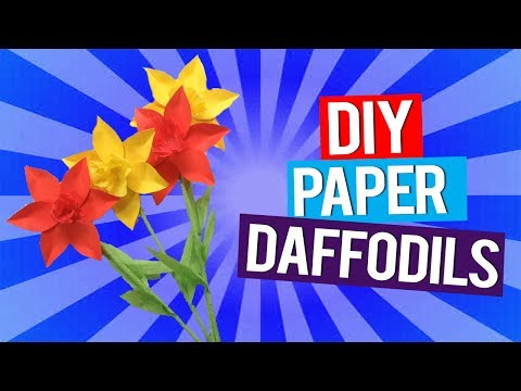Activchamps: How to make daffodils with crepe paper | DIY art and craft for kids |