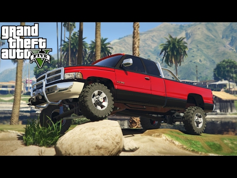 LIFTED DODGE RAM 3500 2nd GEN! 4x4 Mudding, Hill Climbing, & Off-Roading! (GTA 5 PC Mods)