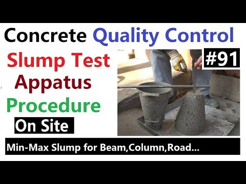 Slump Test of concrete to check the work-ability of concrete in Urdu/Hindi