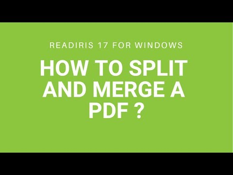 Readiris 17: Split and merge a PDF