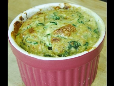 Spinach and Cottage Cheese Souffle