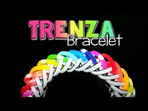 TRENZA Hook Only Rainbow Loom Bracelet Tutorial