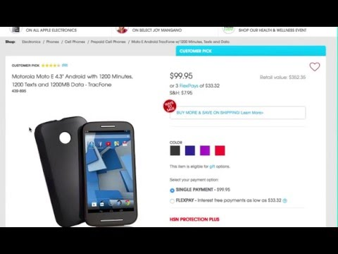 Tracfone Moto E with 1200 Minutes, Text, and Data: Prepaid Deal of the Week