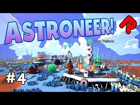 Astroneer Trading Platform!   Let's play Astroneer gameplay ep 4 (PC Excavation update)