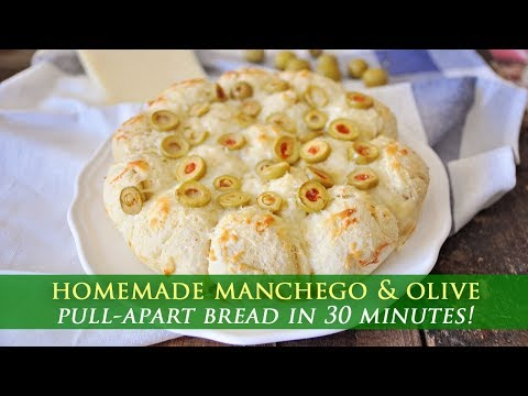 Manchego and Olive Pull-Apart Bread Recipe