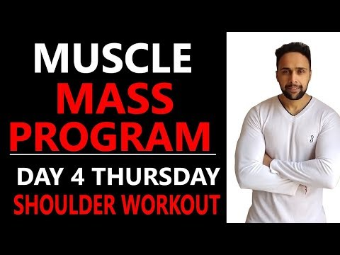 Complete Shoulder size gain or mass gain workout plan in hindi