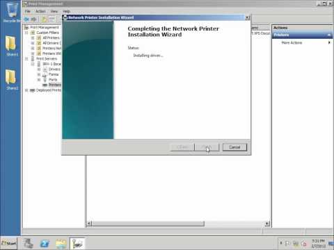 Server 2008 Lesson 11 - Print Server Role and Deploying Printers