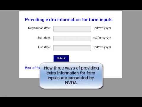 Providing extra information for form inputs