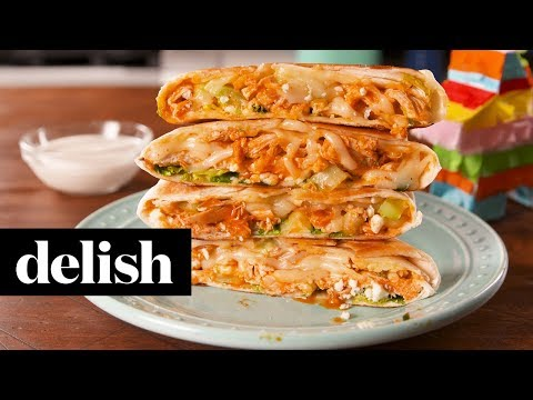 Buffalo Chicken Crunchwrap | Delish