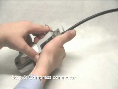 Fitting a compression connector