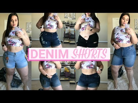 The BEST Plus Size Denim Shorts | 5 Retailer Try-On Haul |