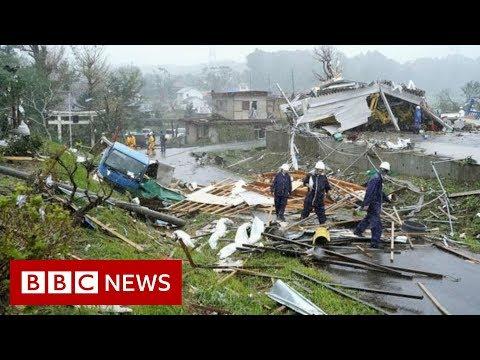 Xxx Mp4 Japan Hit By Biggest Typhoon In Decades BBC News 3gp Sex