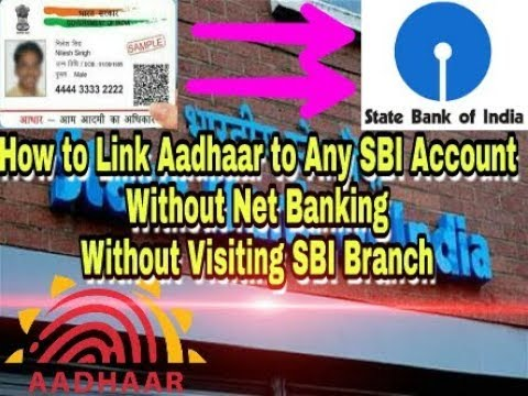 How to Link Aadhaar to Any SBI Saving Bank Account Online Without Net Banking, Without Visiting SBI