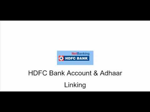 How to Link Your Aadhaar Card to your HDFC bank account