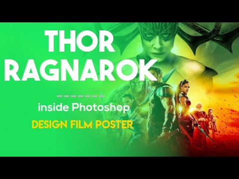 MARVEL THOR RAGNAROK movie poster | Photoshop tutorial | Artix visualfx