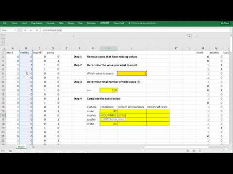 Excel - Multiple response set table and bar chart