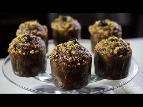 Double Chocolate Pistachio Muffins – Bruno Albouze – THE REAL DEAL