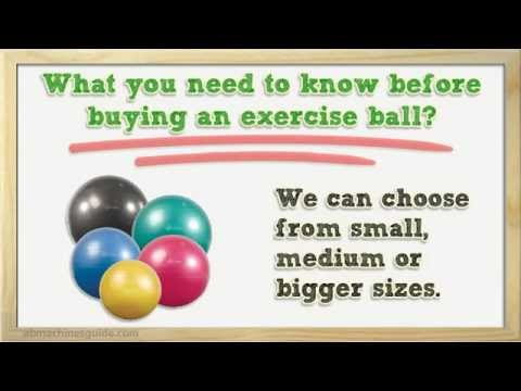 Tips to Buy Exercise Ball - Stability Ball Buyer Guide