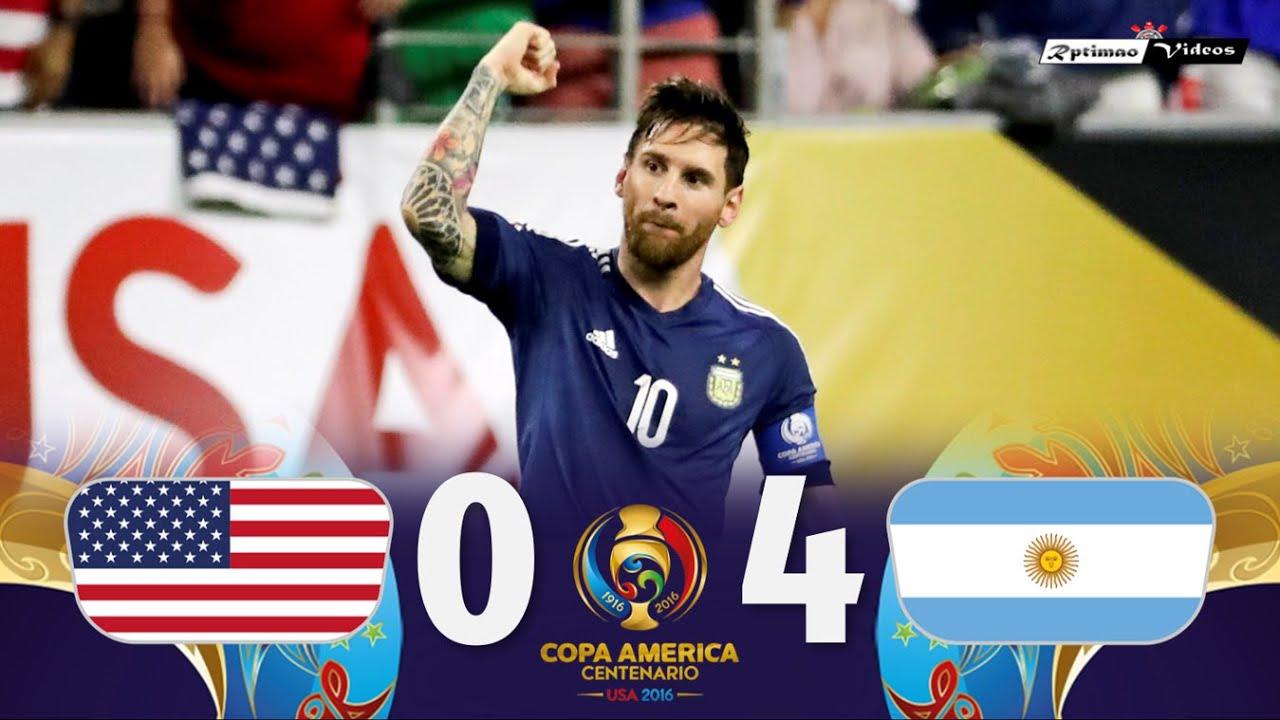 USA 0 x 4 Argentina ● 2016 Copa América Semifinal Extended Goals & Highlights HD