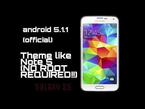 Samsung Galaxy S5 5.1.1 review and (no root)note5 theme!