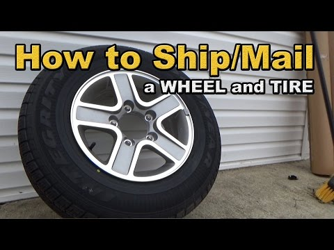 How to ship a wheel and tire in the US by mail (UPS, FEDEX, USPS)