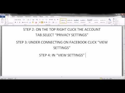 HOW TO HIDE FRIENDSLIST FROM OTHERS ON FACEBOOK (PART-1)