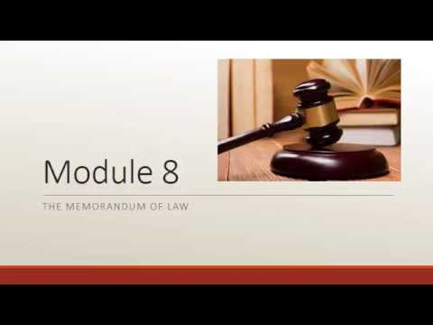 PLA2114 - Memo of Law