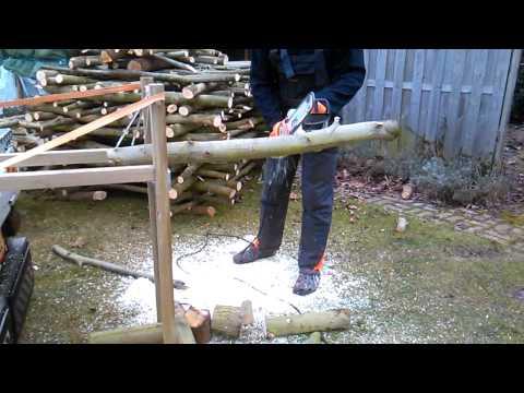 Firewood log Holder DIY brandhout  Stihl Fast cheap easy best