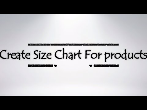 Shopify Website Size Chart For Product Page
