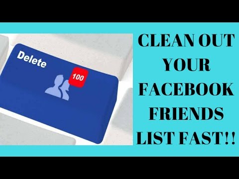Clean Out your Facebook Friends List Fast
