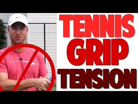 How Tight to Grip Tennis Racket | +3 Part Drill (Top Speed Tennis)