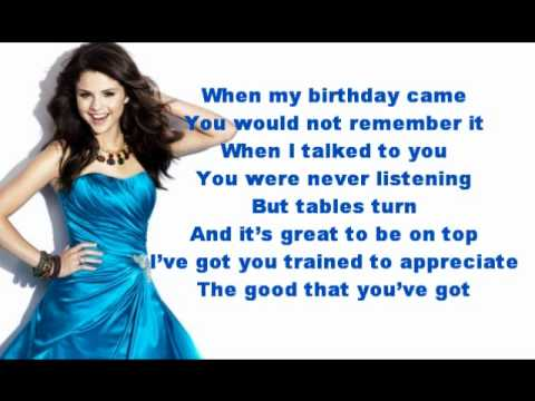 That's More Like It - Selena Gomez - Lyrics