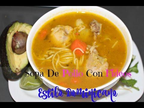 Sopa de pollo con Fideo  (estilo Dominicano) | Cocinando Con Ros Emely
