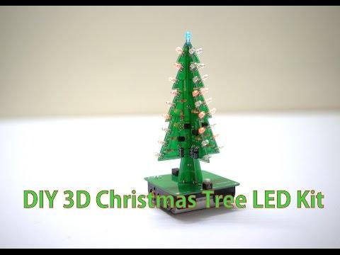 DIY 3D Christmas Tree LED  Kit ( Electronic Learning Kit )