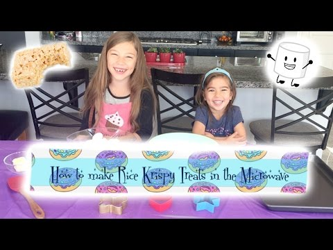 How to make Rice Krispy Treats in the Microwave (Kid friendly)