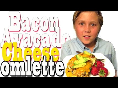 Worlds Tastiest Bacon, Avacado and Cheese Omlette