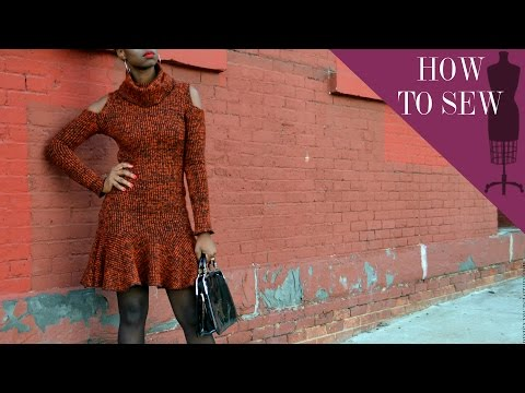 How To Sew A Turtle Neck Sweater Dress