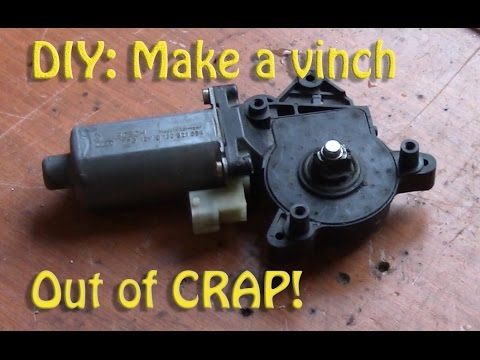 DIY: Build a miniature winch from an old car window motor