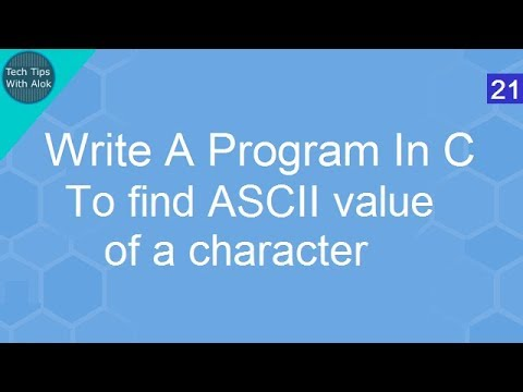 Write A Program In C to find ASCII value of a character