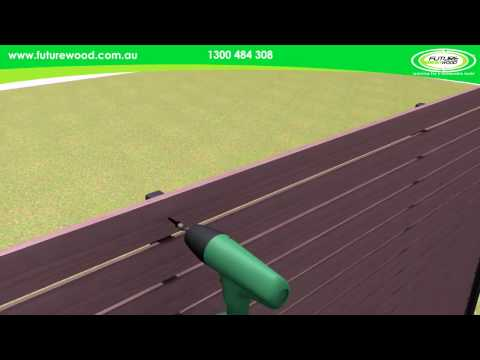 Futurewood EnviroSlat Fence Construction Animation HD
