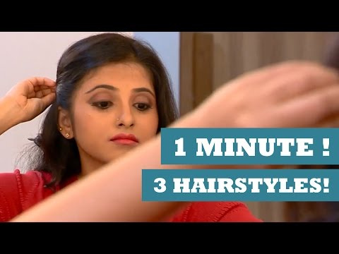 3 Hairstyles In A Minute - Get Stylish with Poornima Indrajith - KappaTV