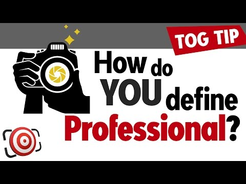 What does it mean to be a professional photographer?  Photography Tip