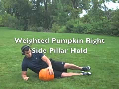 Crazy Core  4 Minute Halloween Freaky Fat Loss Workout with Pumpkins!