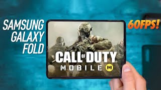 Samsung Galaxy Fold Playing Call of Duty Mobile 60FPS!