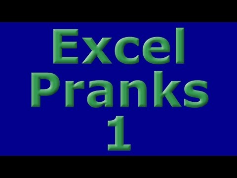 Excel Pranks 1 - Make Data Disappear and Show a Message