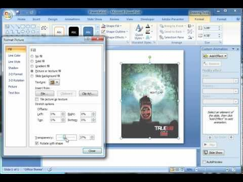 How to Add Image Opacity w/ PowerPoint 2007