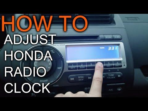 How to Adjust Clock on Honda Fit Radio