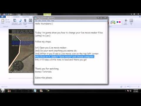 How to convert .wlmp file to .avi